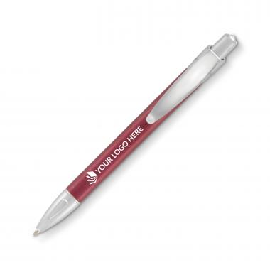 Surf Plastic Pen - Burgundy